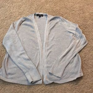 Silk cotton gray cardigan